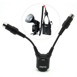 Image 1 - Godox DB 02 iki in one Kablo Y 2 1 Güç Adaptörü için PROPAC Flaş Pil Paketi PB960 PB820 Speedlite AD360 II AD180