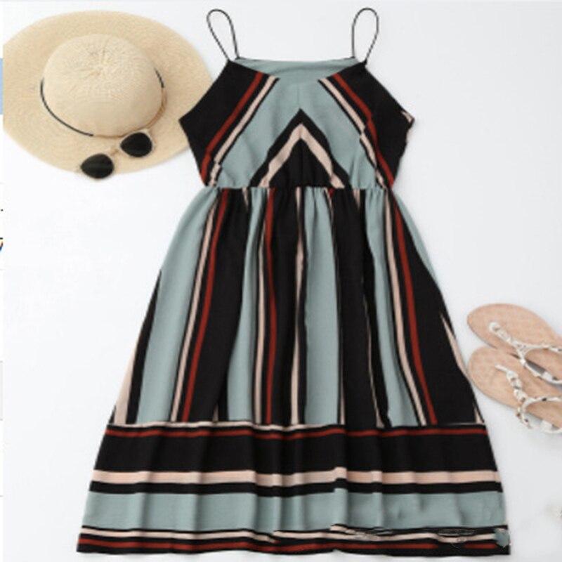 HTB1SzG4XULrK1Rjy1zbq6AenFXaR Bigsweety New Fashion Women Sexy Boho Striped Dress Summer Maxi Long Dress Sleeveless Beach Strap Sundress Vestidos For Female