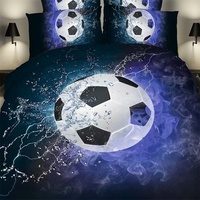 Football and Basketball 3d Bedding Set Full Queen Size Duvet Cover Flat Bed Sheets with Pillowcase Momdern Home Textiles Set