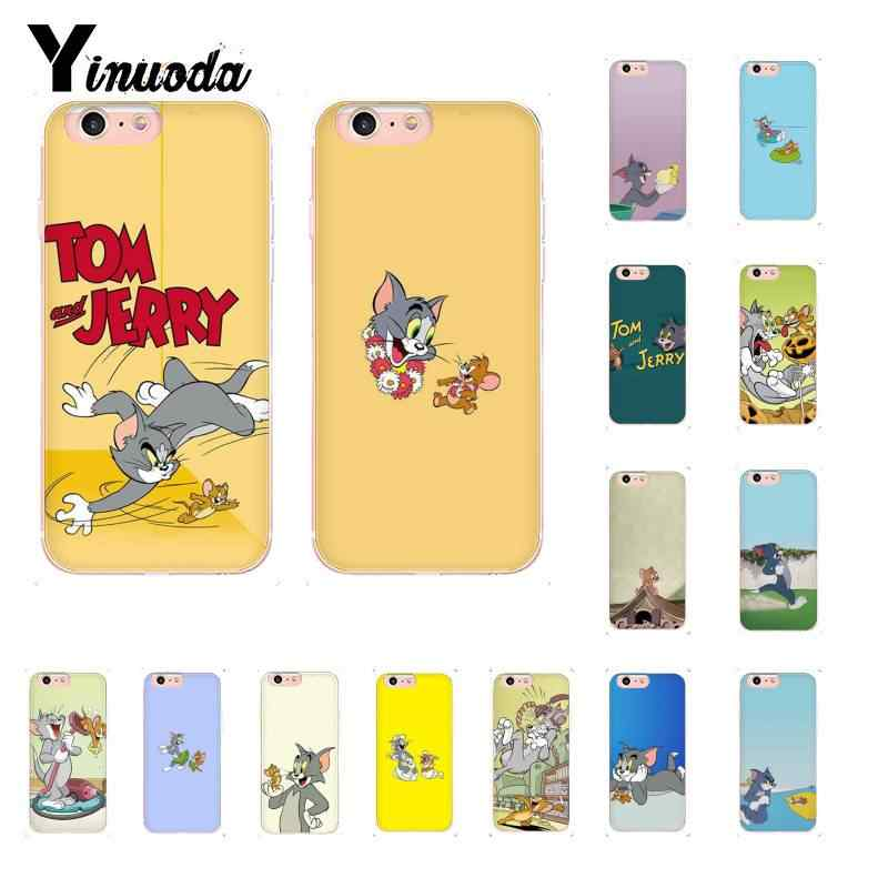 Yinuoda Cat And Mouse Tom And Jerry Diy Luxury Case For Iphone 8 7 6 6s Plus X Xs Max 5 5s Se Xr 10 Cover 11 11pro 11promax