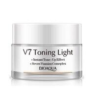 BIOQUA V7 Światła Tonizująco Nake Makijaż Korektor Krem Wybielający Krem Do Twarzy Do Złożonych Twarzy Krem Nawilżający 7 Vtamins Naturalne