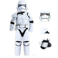 White Star Wars Costume For Children Carnival Clothing For Boys Halloween Cosplay Warrior Cosplay Kids