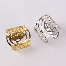 8 X серебро/золото розовое кольцо для салфетки металлическая для салфеток Держатель для свадьбы Отель ужин вечерние украшения