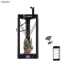 New 2019 FLSUN QQ S 3D Printer Lattice Plate Pre assembly Delta 3D printer Large Size 32bit Processor Titan Extruder Wifi Resume