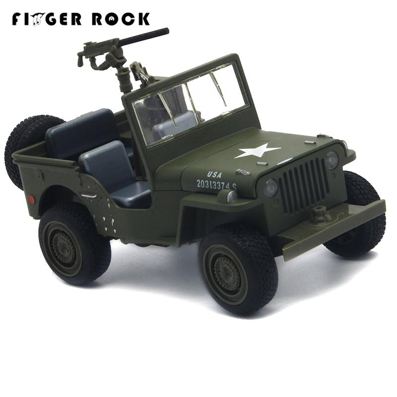 Willys Jeep 1:32 Scale Simulation Military Vehicle Model Pull Back Acousto-optic Alloy Toy Diecast Metal Car Brinquedo Menino willys jeep 1 10