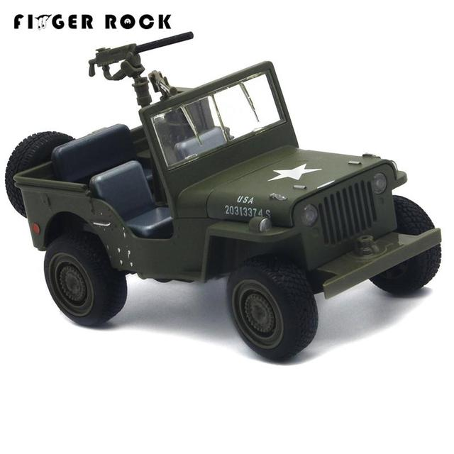 Willys Jeep 1:32 Scale Simulation Military Vehicle Model Pull Back Acousto-optic Alloy Toy Diecast Metal Car Brinquedo Menino