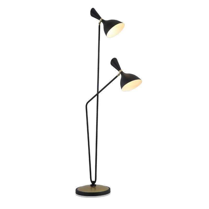 Kung Simple Modern Floor lamps black white lamp body Creative Night standing lamp Led light source