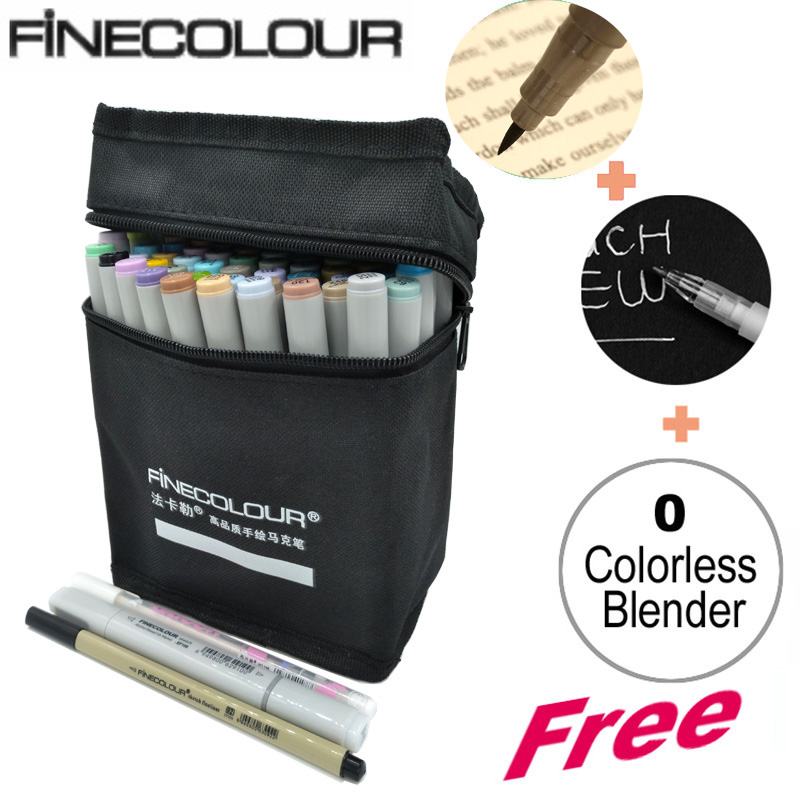 FINECOLOUR Double Headed Sketch Marker Pen Architecture Alcohol Based Art Markers 36 48 60 72 Colors set Manga Drawing