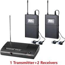 Takstar WPM-200/WPM200 Беспроводная система монитора в ухо стерео Беспроводная гарнитура сценические мониторы система 1 передатчик 2 приемника