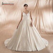 Stunning Beautiful Satin Wedding Dress With Beading Straps 2020