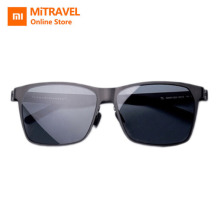 Xiaomi Mijia Custom TS Sunglasses Stainless Traveler Nylon Polarized Lens UV400 Protection Cool Innoviation Design Men Black original xiaomi mijia turok steinhardt ts nylon polarized stainless sunglasses colorful retro 100% uv proof for travel man woman