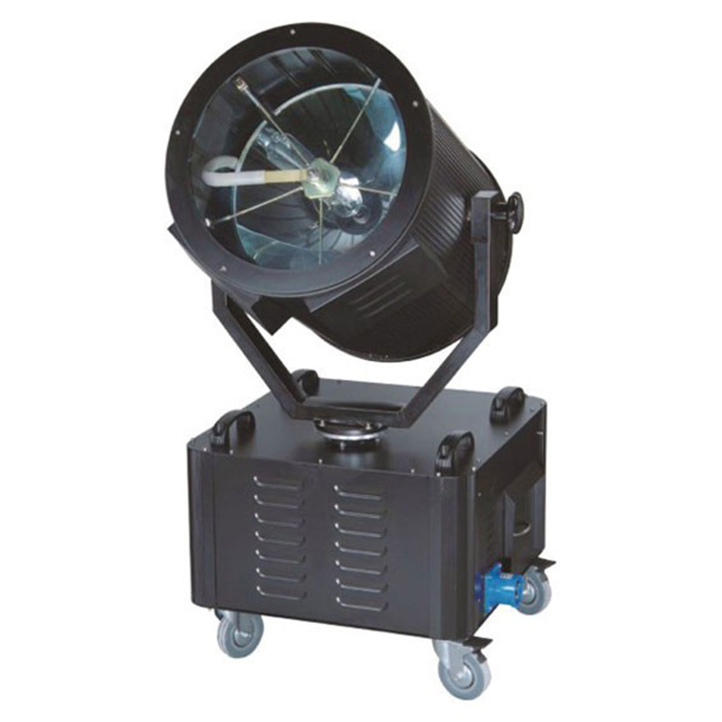 Searchlight 1-7KW Sky Rose Searchlight Light Range 800-6000M White Red Yellow Blue Green Violet Anti-Aircraft Light