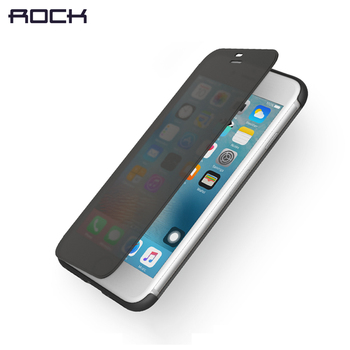 Dr.v Series Flip Cover for iPhone 7 7 plus, ROCK Invisible window full screen protection Phone flip case for iPhone 7 7 plus 2