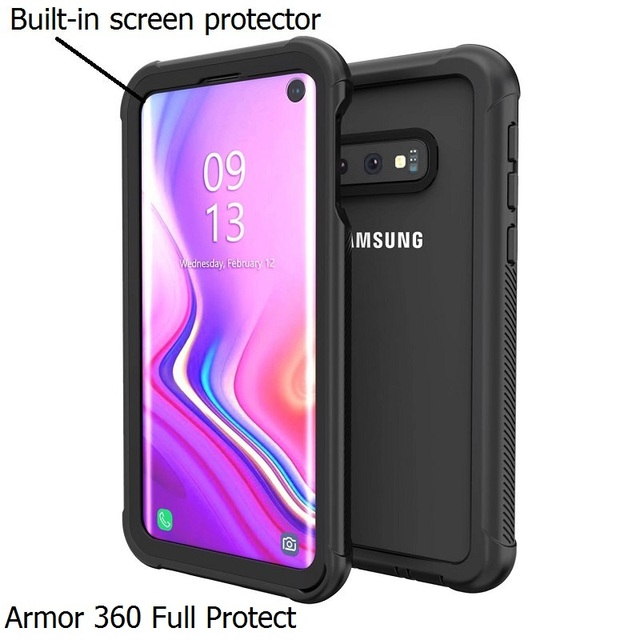 Armor 360 Full Protect For Samsung Galaxy S10 Fundas S8 S9 Plus S10 Lite Note10 Case Cover transparent PC+TPU+Silicon Shockproof