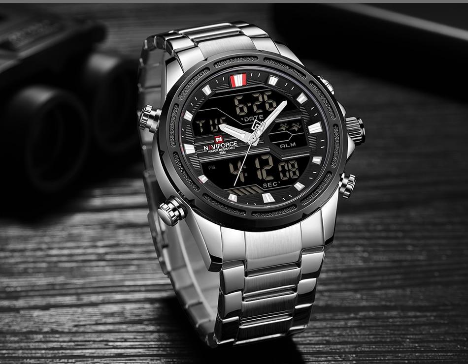 Top Luxury Brand NAVIFORCE Men Watches Military Waterproof LED Digital Sport Men's Clock Male Wrist Watch relogio masculino 14
