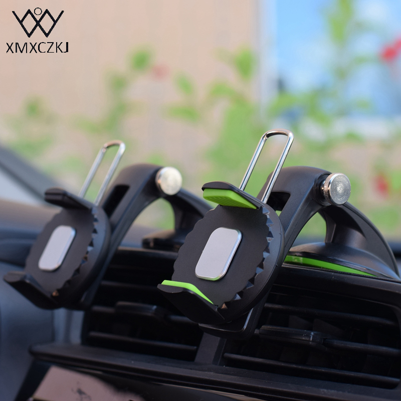 XMXCZKJ Windshield Mount Holder Universal Car Phone Holder 360Degree Rotation Cradle Suction Cup Stand For Smartphone GPS Holder image