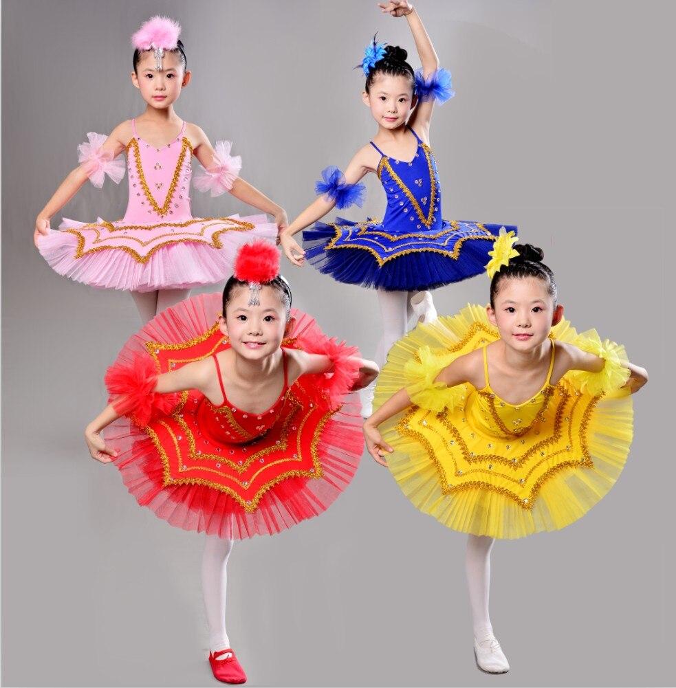 Fille Ballet Tutu Costume enfants paillettes 4 couleur cygne lac danse robe enfants danse justaucorps fille Dancewear Allet robe vêtements