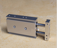 bore 25mm X 50mm stroke CXS Series double shaft pneumatic air cylinder