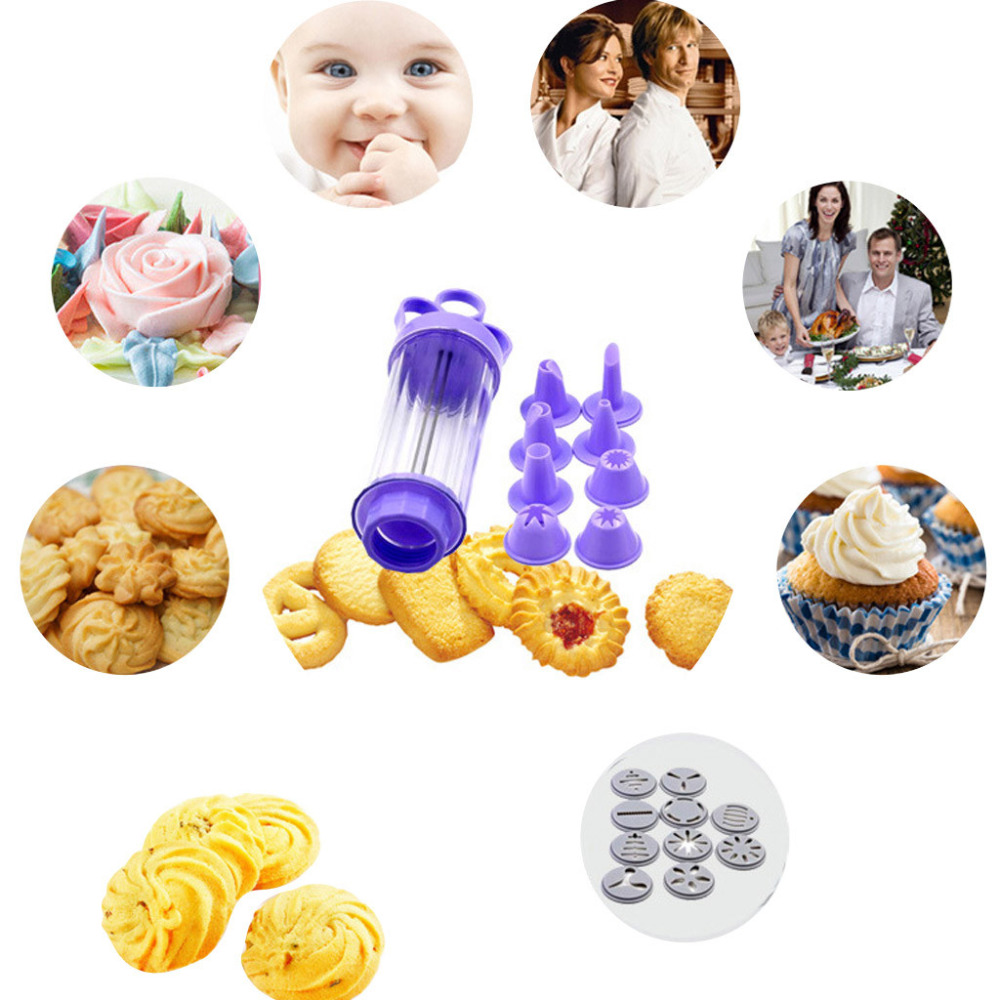 Cookie Biscuit Making Maker Pump Press Machine Decor Kitchen Mold Tools Set 3D Christmas Cookie Cutters Cake Cookie Mold M3