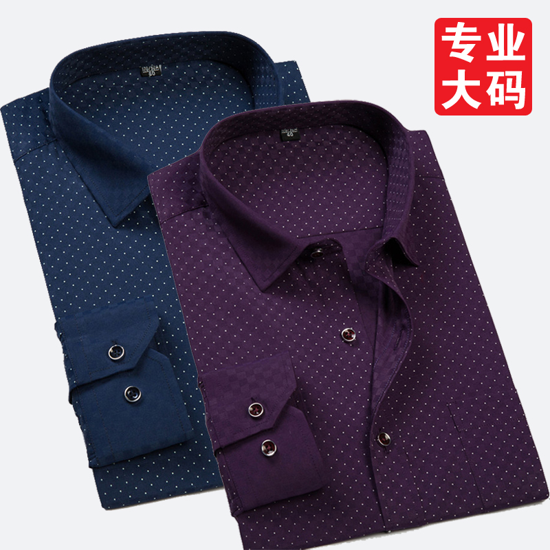 new arrival Male long-sleeve shirt print extra large fashion formal super large plus size M L XL2XL3XL4XL5XL6XL 7XL 8XL 9XL