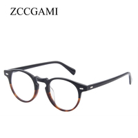 Acetate Men Glasses frame Vintage Optical Brand Myopia Designer Clear Eyeglasses frames Women Retro Eyewear frame #OV5186