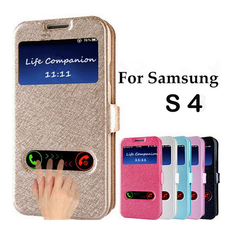 luxury front window view leather flip case for samsung galaxy s4 prime case coque cover flip. Black Bedroom Furniture Sets. Home Design Ideas