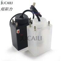 1pc uv/solvente 4 maneiras tinta sub tanque para infiniti crystaljet allwin inkjet impressora solvente tinta sub tanque