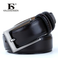 High Quality Cowskin Genuine Leather Mens Belts Famous Brand Luxury Male Leather Belt Man Fashion Designer