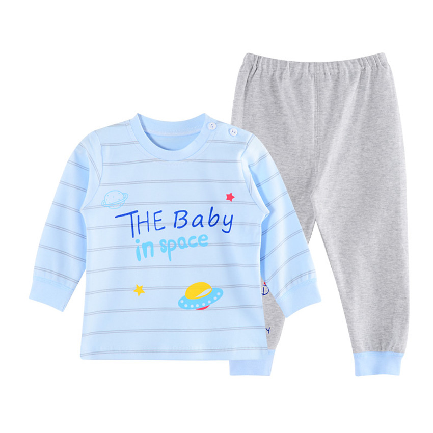 J&E 2018 Spring Baby Boys Clothes Girls Clothing Set Long Sleeve Cotton Toddler Infantil Costumes T-shirt Pants Suit 3M-24M