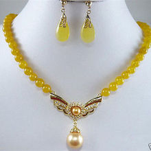 Free deliver Nobility Lucky Women Real natural Yellow Jade S