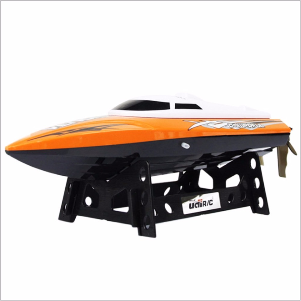 UDI001 high-speed remote control boat 2.4g water speed boat model electric boat children's toy airship 3 speed change remote and manual control 60 90 120 secs circle 60x10cm electric turntable display stand rotary model show