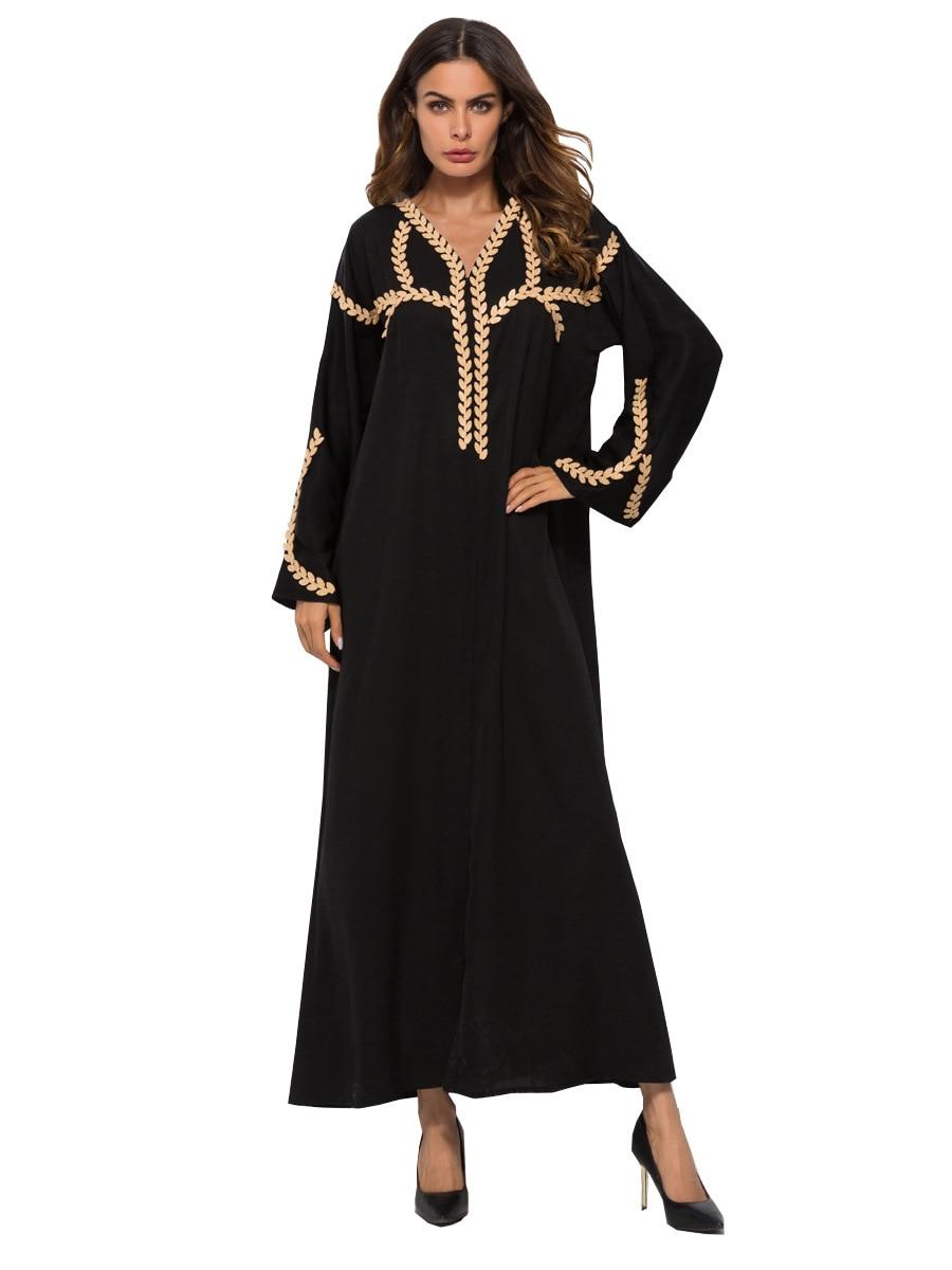 Elegant Muslim Abaya Embroidery Cardigan Maxi Dress Tunic Kimono Long Robe Gowns Jubah Middle East Arab Ramadan Islamic Clothing
