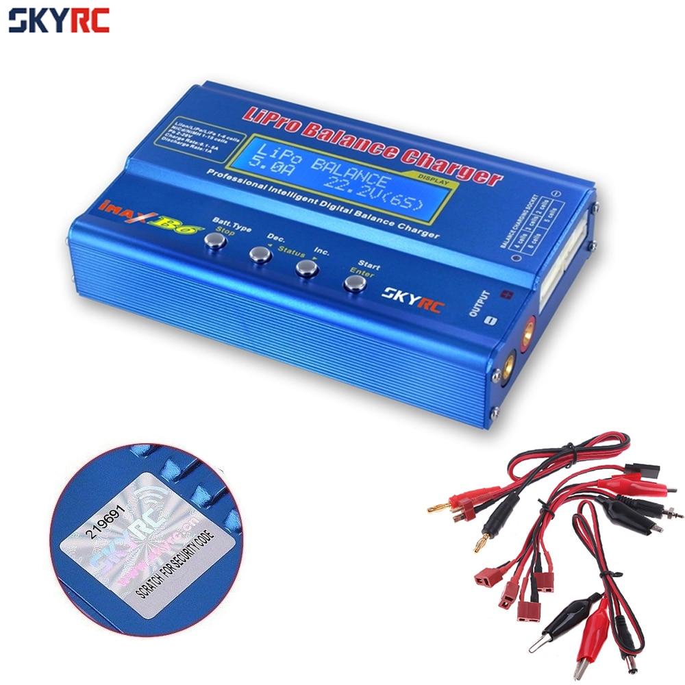 Original SKYRC IMax B6 Digital LCD Lipo NiMh 3 s batería Balance cargador 12 V 5A adaptador