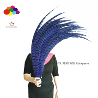 80 100cm/32 40 Inches Navy dyed pheasant tail feather Lady amherst side tails pheasant feather