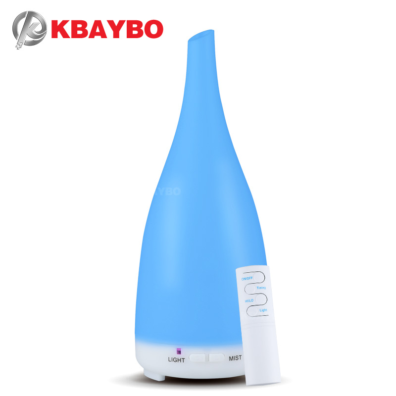 KBAYBO essential oil diffuser air humidifier cool mist maker aromatherapy 7 color led lights for home fogger with remote control 420ml remote control air humidifier with color led night lights home aromatherapy essential oil aroma diffuser mist maker gift