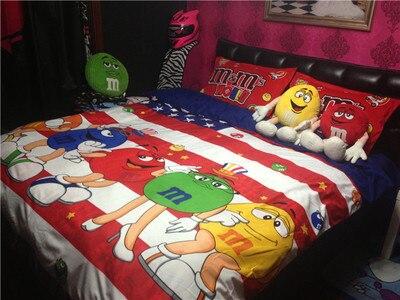 online shop m m 's bedding set 4pcs m&ms chocolate beans beans