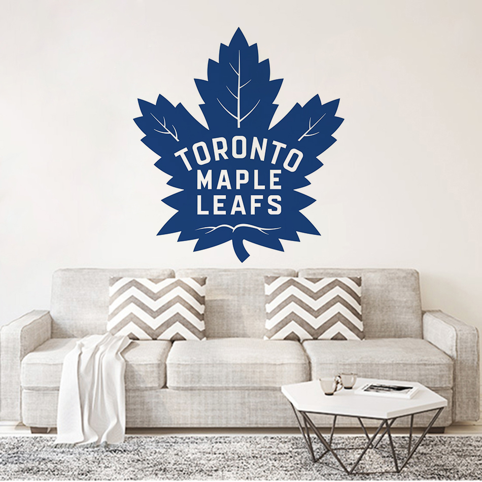 Toronto Maple Leafs Vinyl Home Decor Canada Style Wall Art