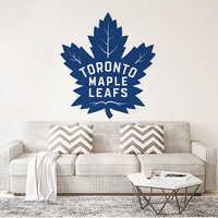 Toronto Maple Leafs Vinyl Home Decor Canada Style Wall Art Sticker Hockey Sports Logo Vinyl Art Poster Living Room Art AZ313