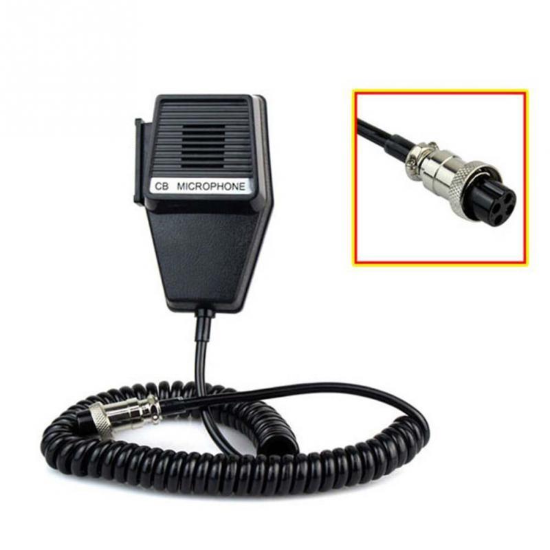 CM4 CB Radio Speaker Mic Microphone 4 Pin For Cobra/Uniden Car Walkie Talkie