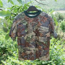 Бионический камуфляж Dead leaves хлопковая футболка с короткими рукавами