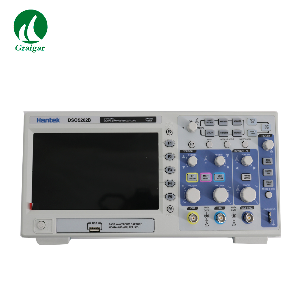 DSO5202B LCD Deep Memory <font><b>200MHz</b></font> Bandwidths Desktop <font><b>Digital</b></font> Storage <font><b>Oscilloscope</b></font> image