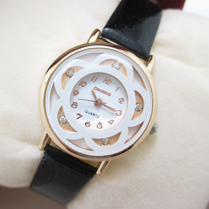 Ladies Watch Fashion PU Leather Quartz Wrist Watches for Women Student Girl шпильки dewal серебристые прямые 60мм 60шт уп на блистере 949021