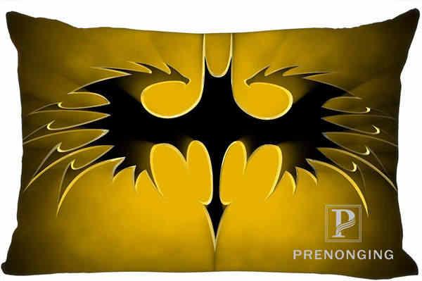 Melhor Personalizado Logo Fronha Batman Retângulo Fronhas com zíper 35x45 cm (Um Lado de Impressão) @ 180117-159