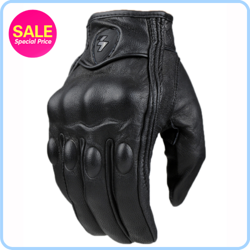 Retro Perforated and no Perforated Leather Motorcycle Gloves 2 Style Cycling bike Motorbike Protective Gears Motocross