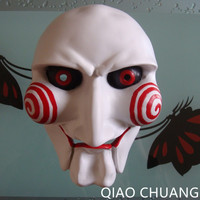 Halloween Amok Horror Electric Saw Mask Cosplay Party Ball Movie Adult Full Face Mask Creepy Scary Resin High Quality L416