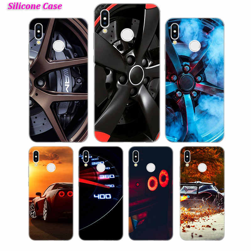 Silicone Phone Case Hot Sport car Fashion for Huawei P Smart 2019 Plus P30 P20 P10 P9 P8 Lite Mate 20 10 Pro Lite Nova 3i Cover