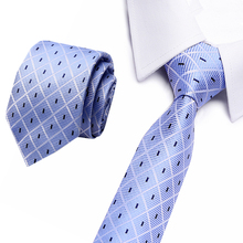 Man Silk Ties for Mens Accessories Black Blue White Red Green Solid Striped Jacquard Business Wedding Necktie Gravatas 3/7.5cm