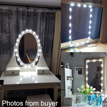 DIY Hollywood Style LED Mirror Light with Touch Dimmer and Power Supply Makeup Mirror Vanity LED Light for Dressing Table