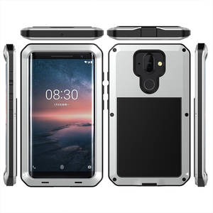 Image 5 - For Nokia 8 Sirocco Shockproof Case Armor Waterproof Metal Aluminum Phone Cases For Nokia 8 Sirocco Case Cover Screen Glass Film