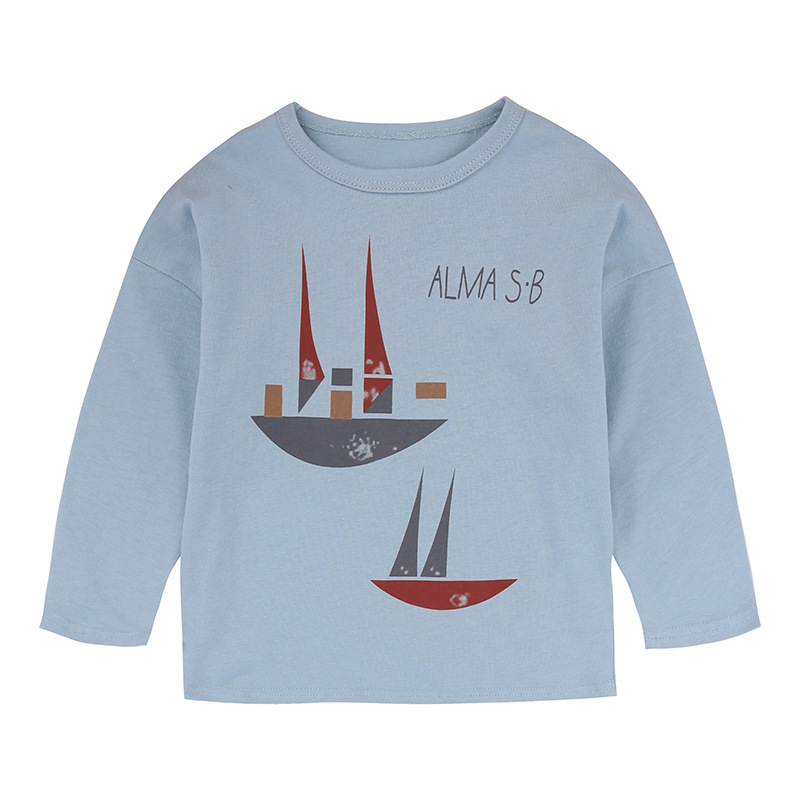 Bobo Choses Girls Long Sleeve Tops 2017 Autumn Kids Boys Cotton T-shirts Toddler Casual Cartoon Print Tees Tops Children Tshirts
